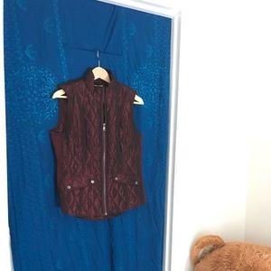 dressbarn Quilted Zip Vest